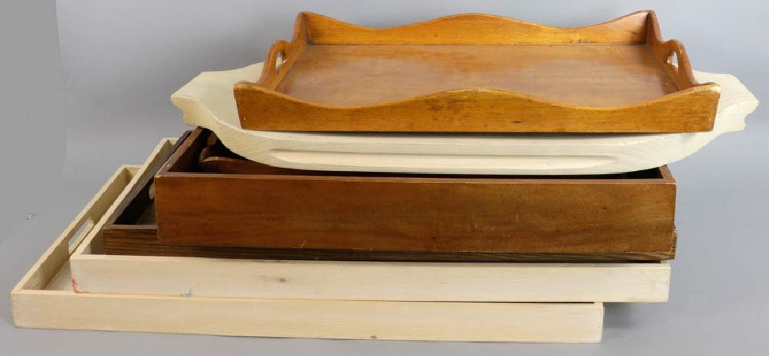 Group of Wooden Serving Trays