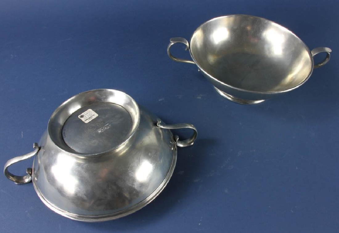 Two Italian Pewter Bowls - 2