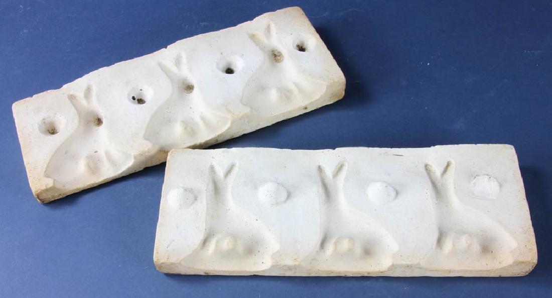 Two Rabbit Molds for Chocolate
