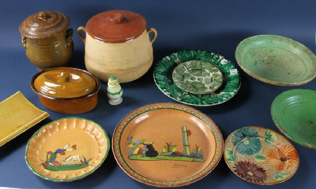Assorted Antique Earthenware Bowls