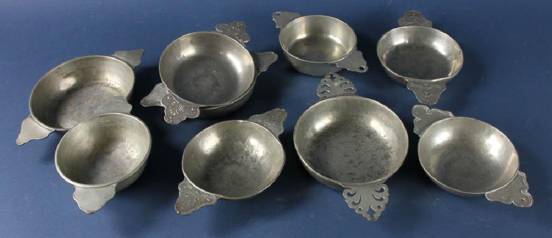 Group of 18th/19thC Pewterware Items