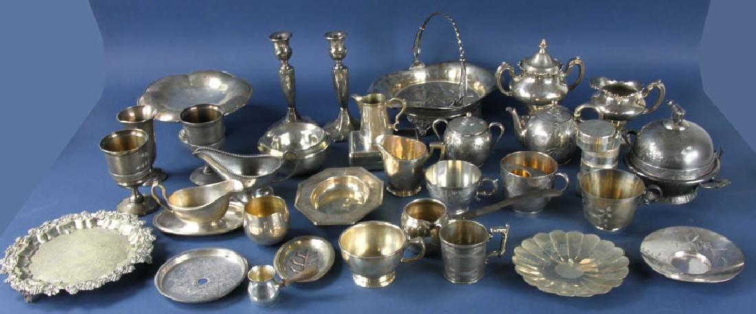 Group of 19th/20thC Silverplate Items