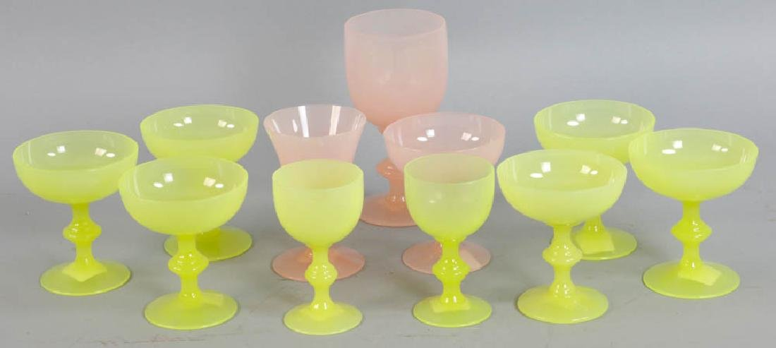 Group of Opaline Glass Cups