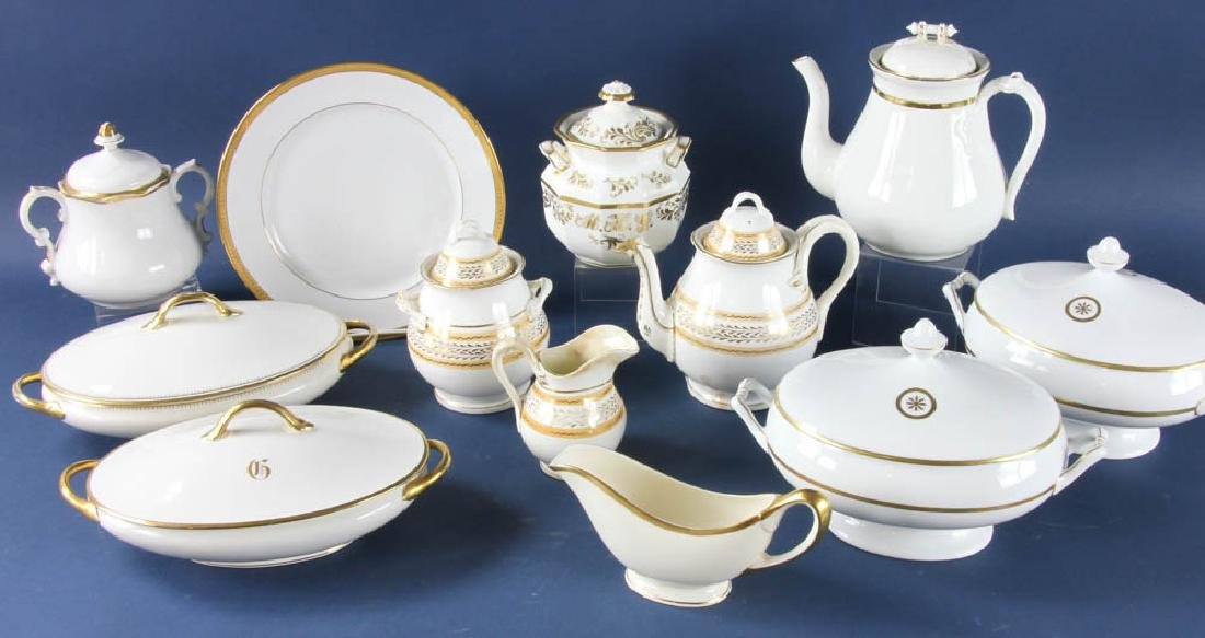 Large Serving Set of English Porcelain