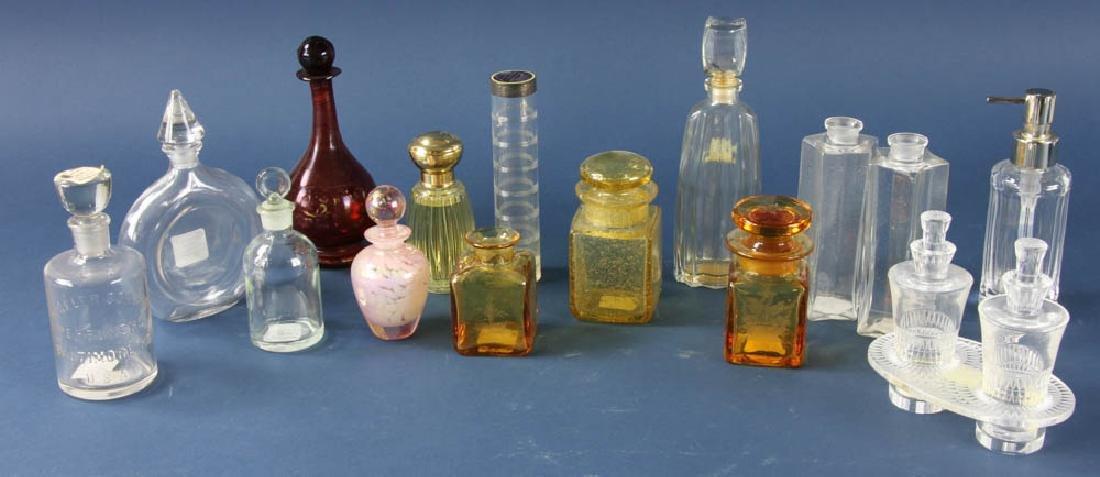 Group of Glass Perfume Bottles