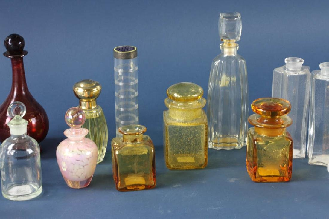 Group of Glass Perfume Bottles - 3