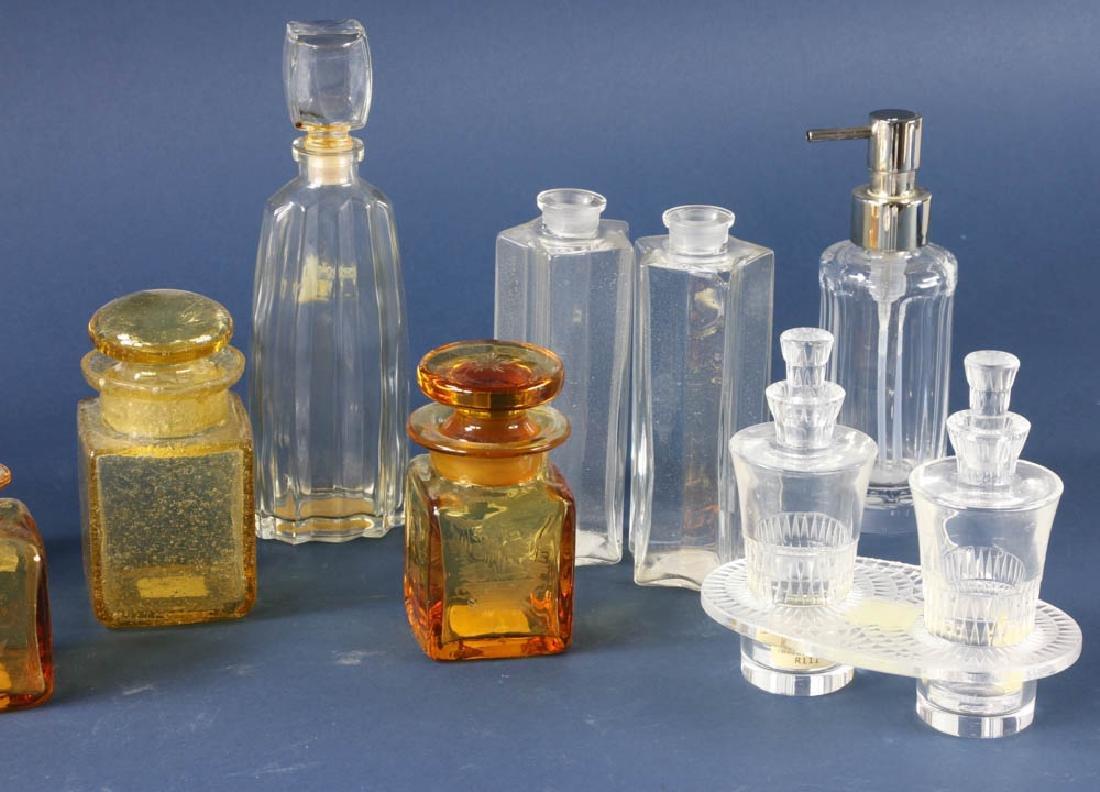 Group of Glass Perfume Bottles - 4