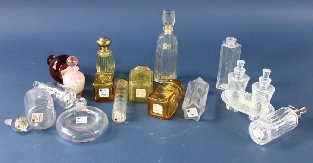Group of Glass Perfume Bottles - 5