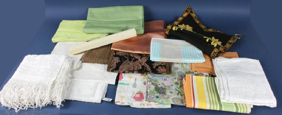 Two Boxes of Placemats and Curtains