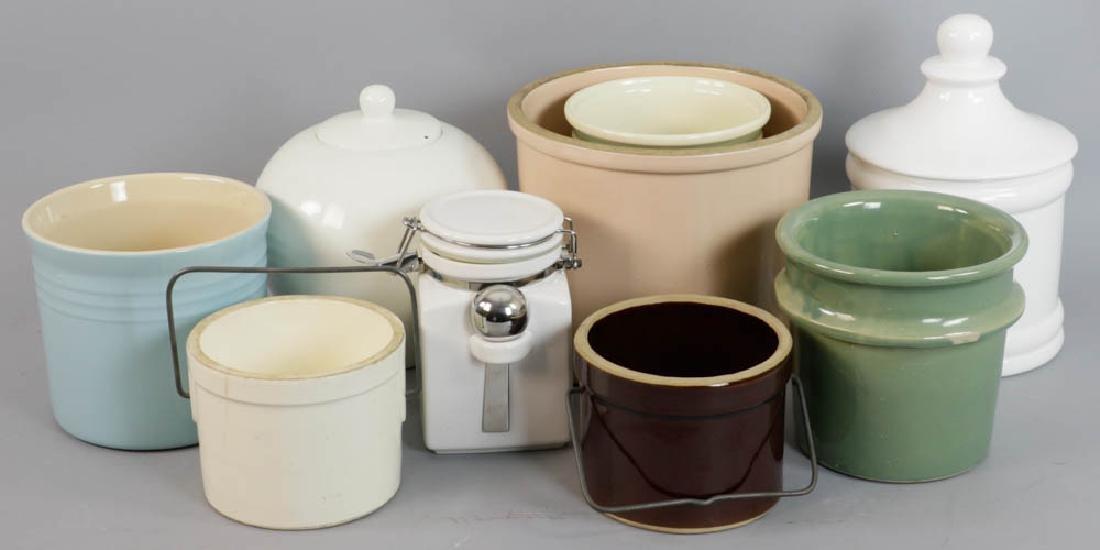 Group of Ceramic Lidded Jars