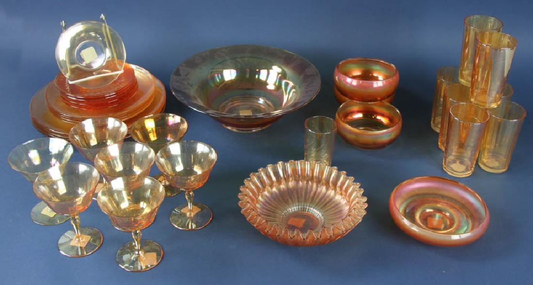 Collection of Vintage Carnival Glass