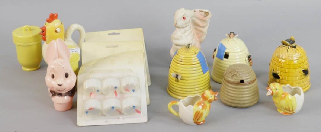 Group of Vintage Sugar Bowls, Honey Pots