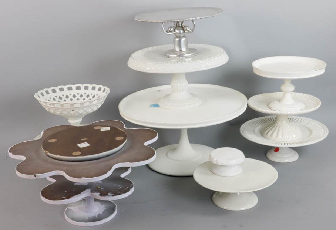 Group of Eleven Cake Stands
