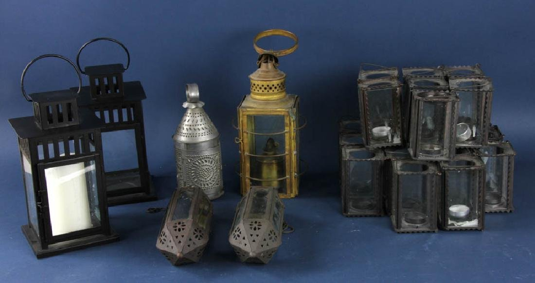 Collection of Assorted Tin Lanterns
