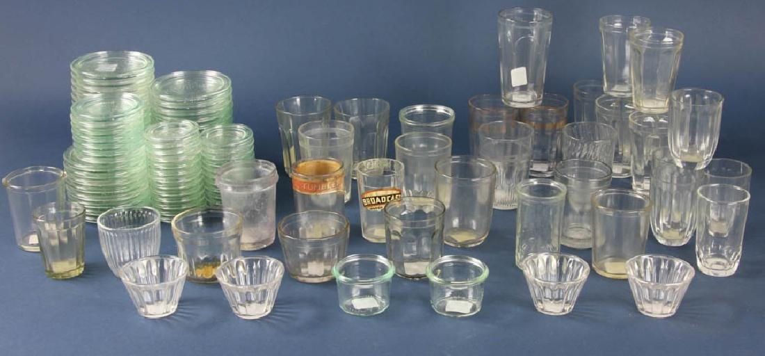 Group of Weck Glass Lids, Jelly Glasses