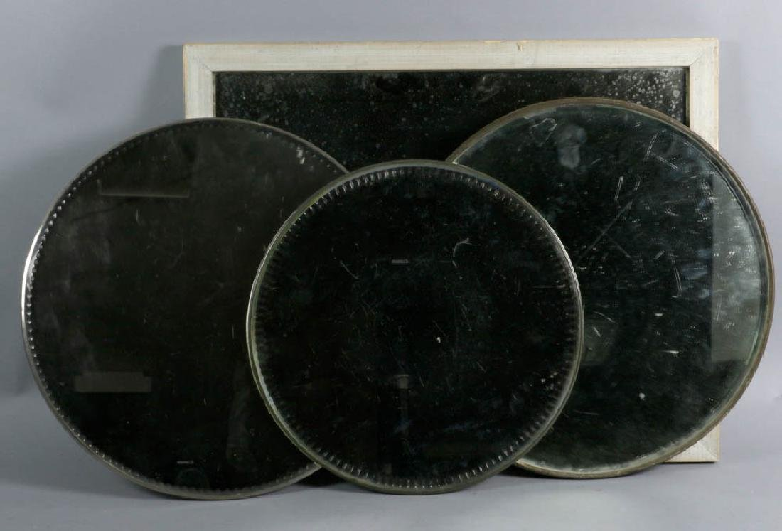 Four Mirrored Plateaux and Framed Mirror