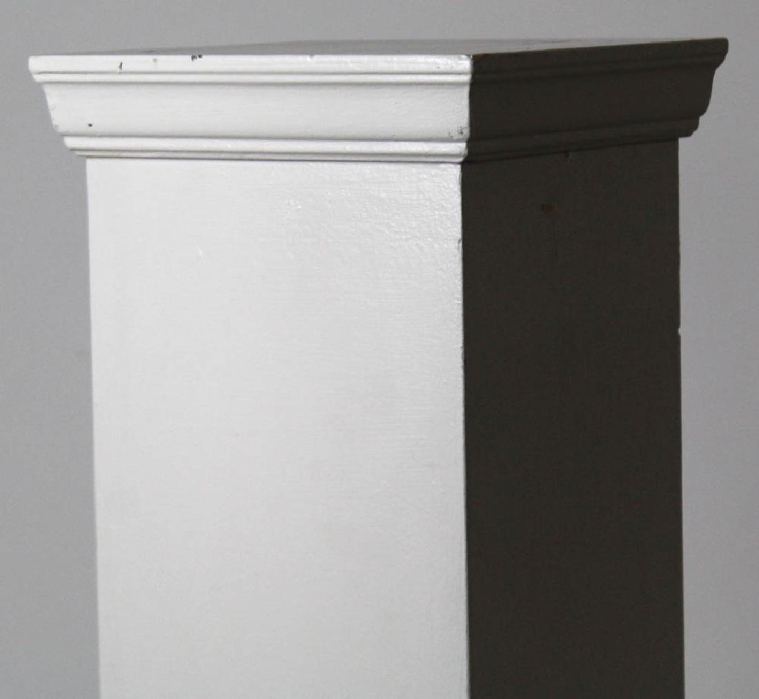 Tall Painted Wooden Pedestal - 2