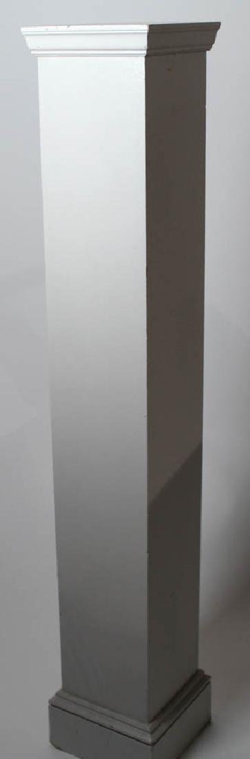 Tall Painted Wooden Pedestal - 3