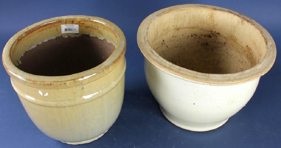 Two Glazed Pottery Planters - 3