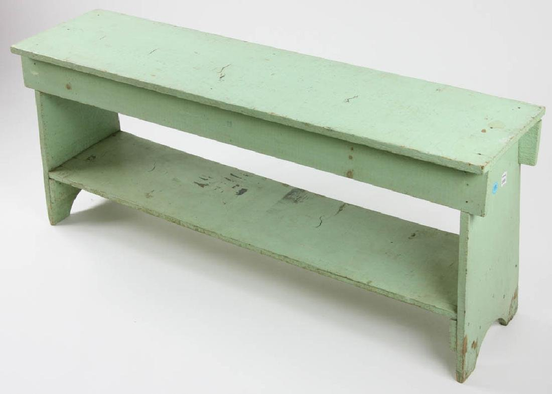 Vintage Painted Wooden Potting Bench - 2