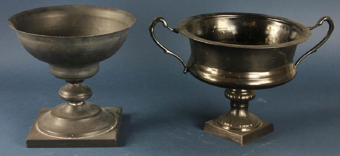 Two Metal Urns