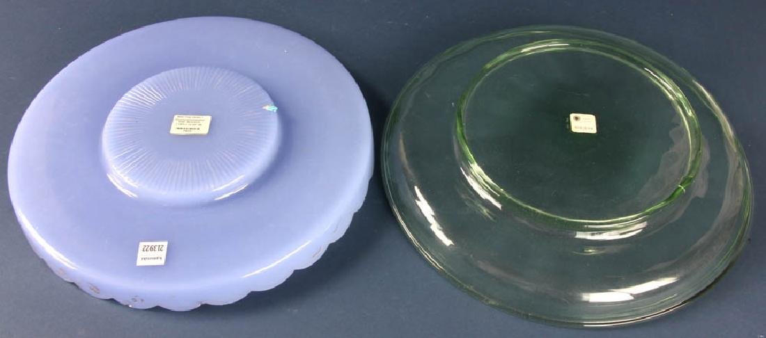 Two Blown Glass Trays - 2