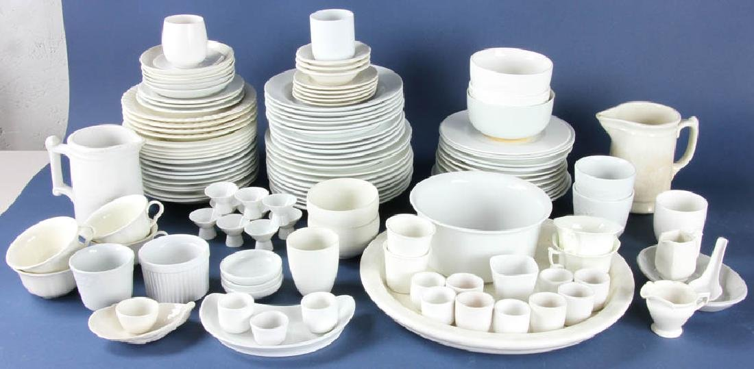 Collection of White China and Ironstone