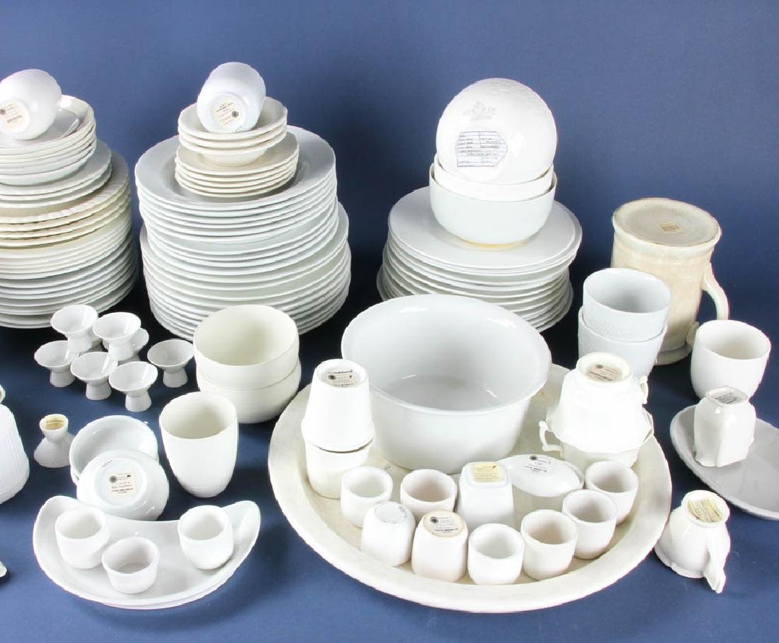 Collection of White China and Ironstone - 2