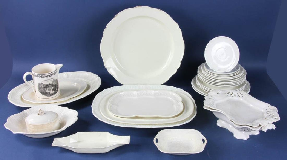Group of Antique English Creamware Items