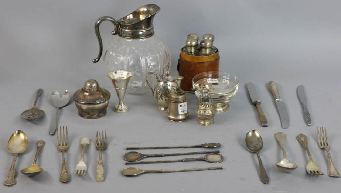 Assorted Silverplated Flatware and Accessories