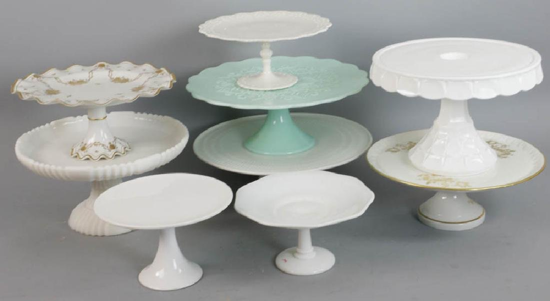 Group of Nine Assorted Cake Stands