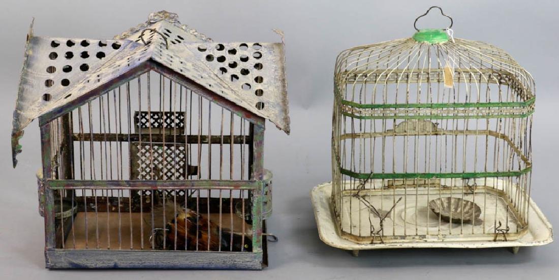 Two Vintage Metal Birdcages