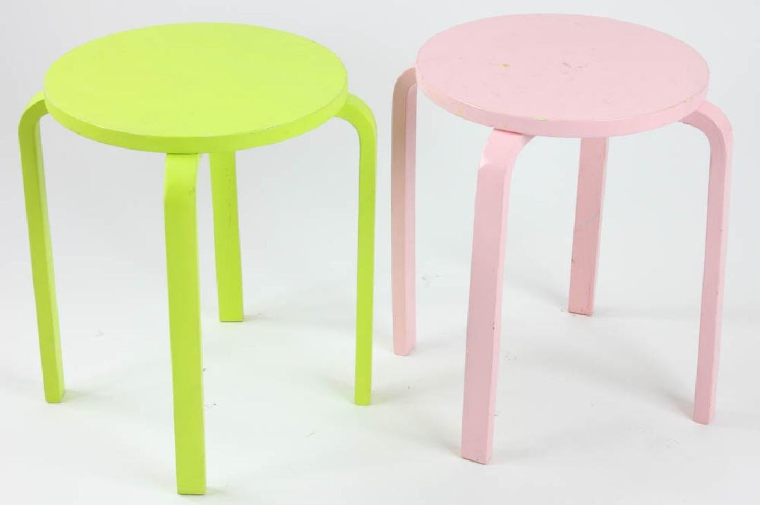 Pair of Painted Side Tables