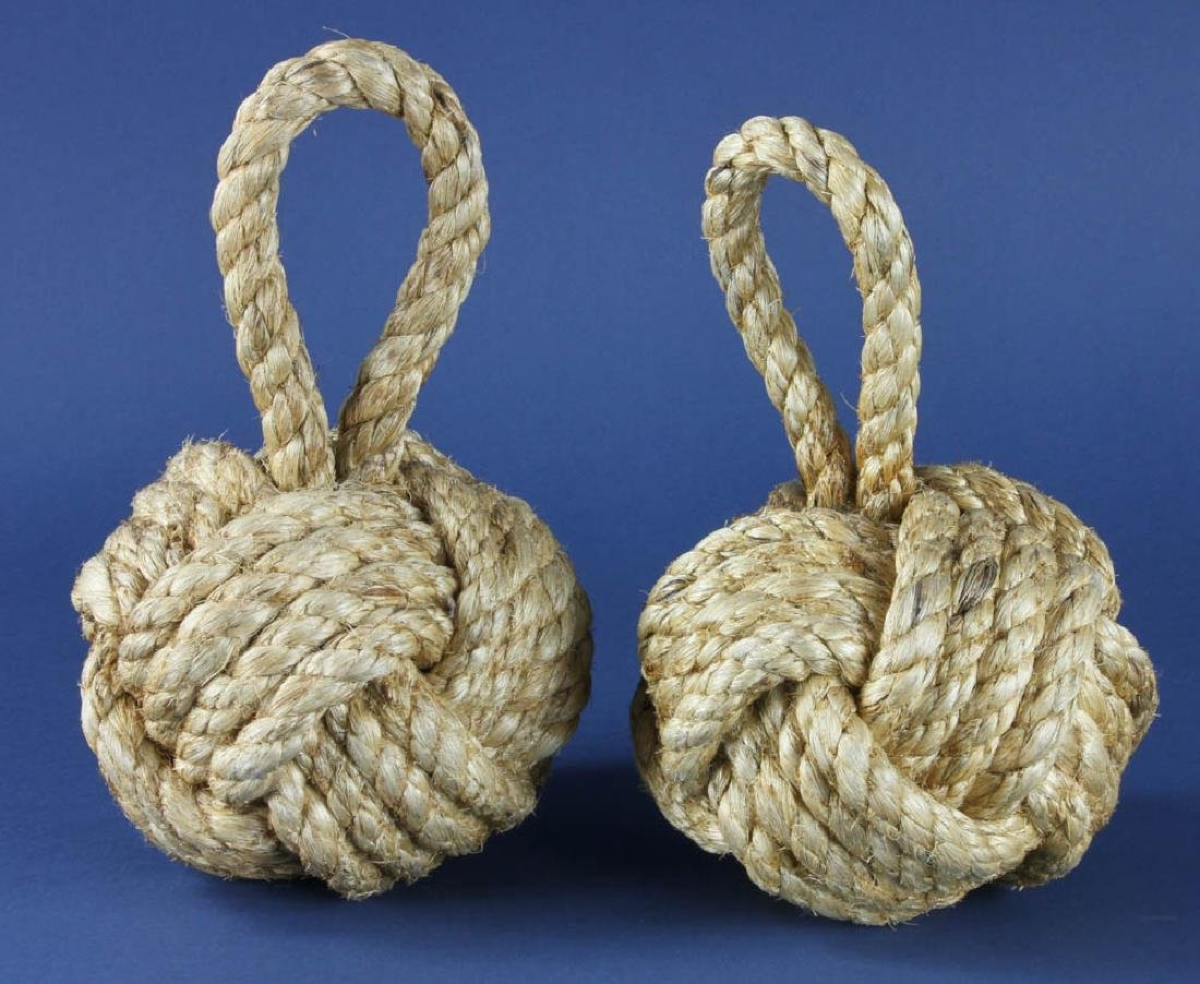 Pair of Nautical Knot Rope Doorstops