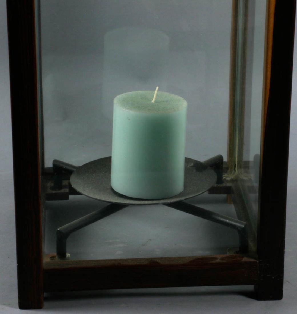 Wood and Glass Candle Lantern - 2