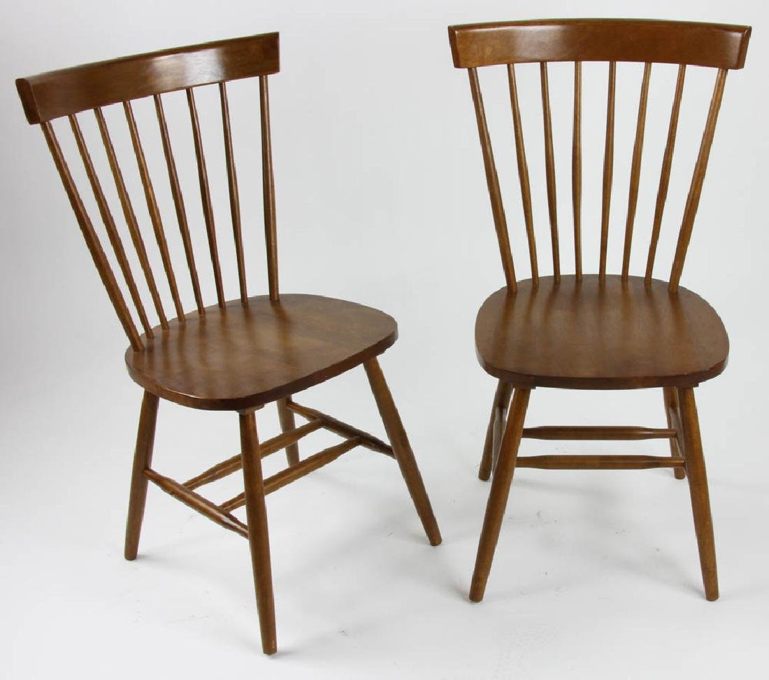 Pair of Wooden Spindle Back Chairs