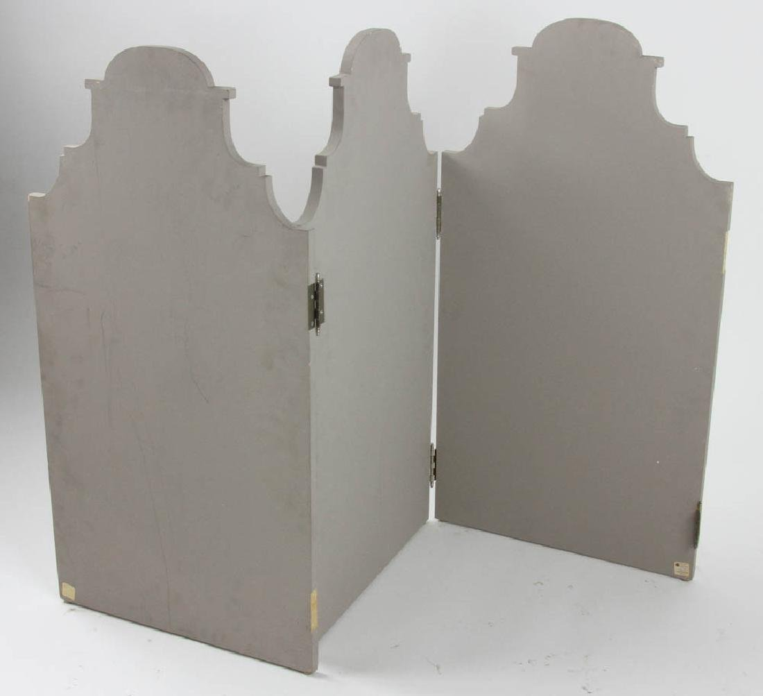 Three Piece Wooden Screen