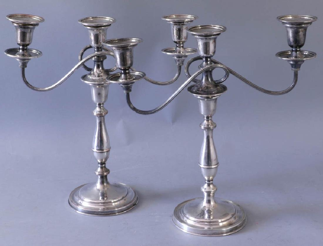 Pair of Sheffield Silverplate Candlesticks