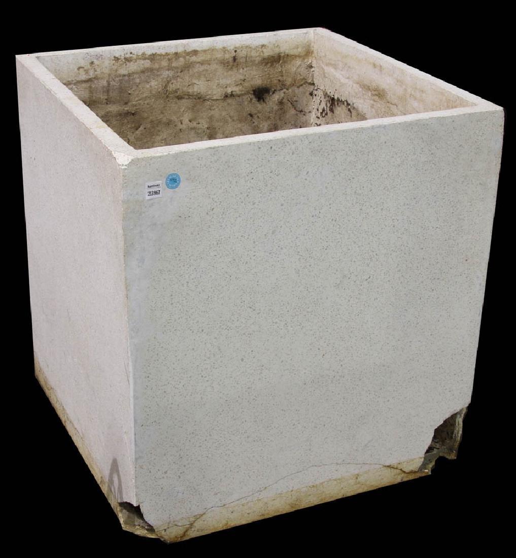 Large White Cement Planter