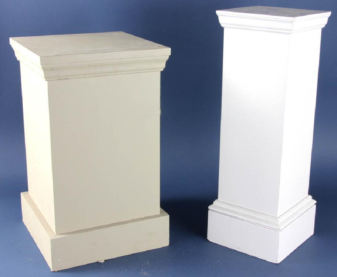 Two Painted Wooden Pedestals