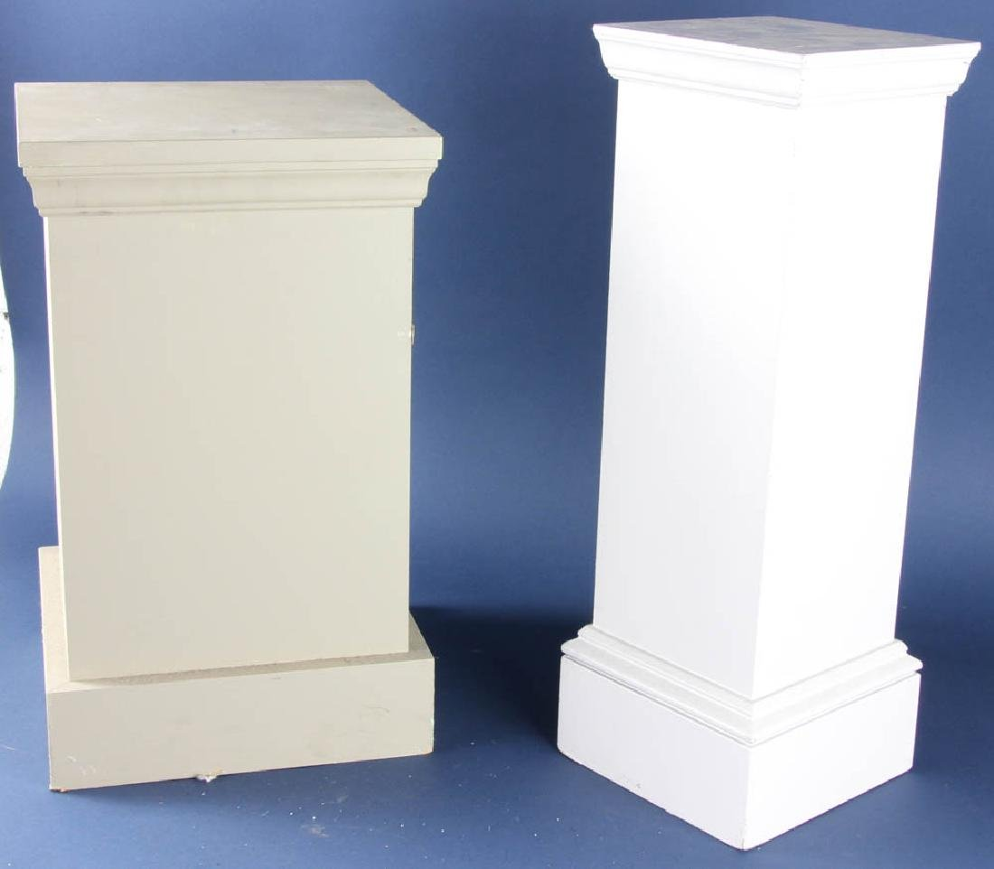 Two Painted Wooden Pedestals - 2