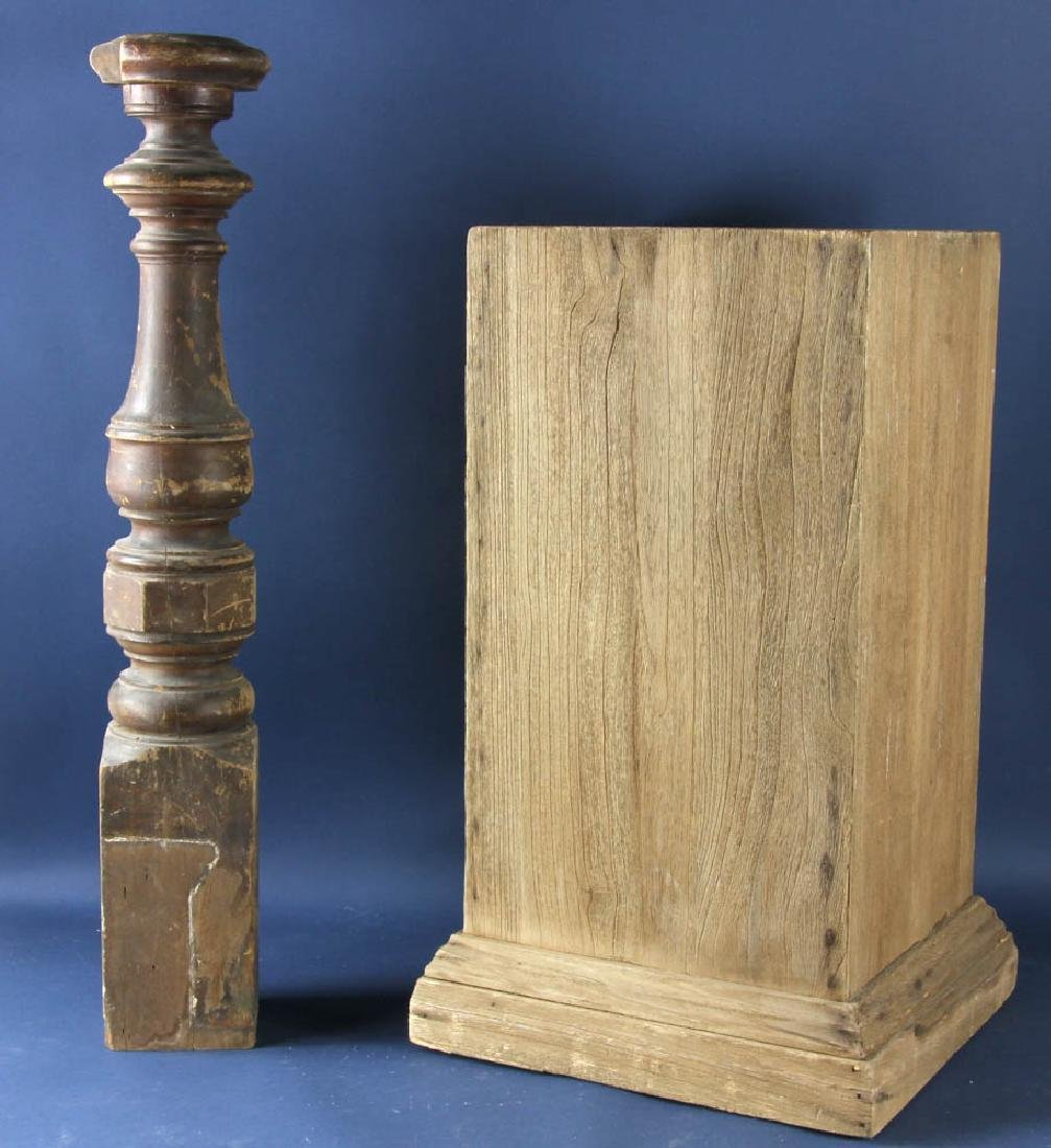 Turned Banister Column and Pedestal