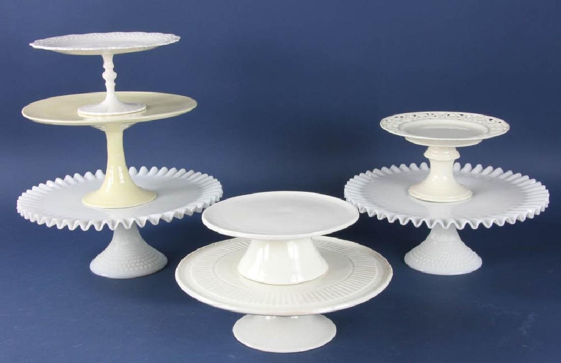 Group of Seven Cake Stands