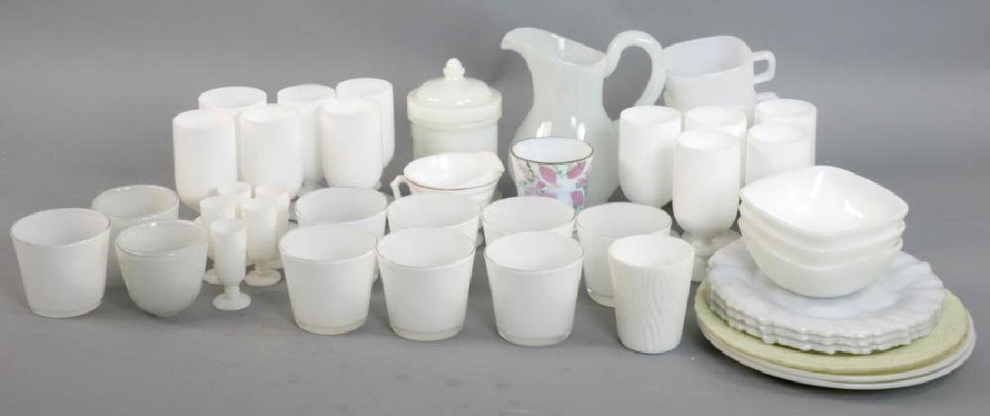 Vintage Milk Glass Items, Votive Holders
