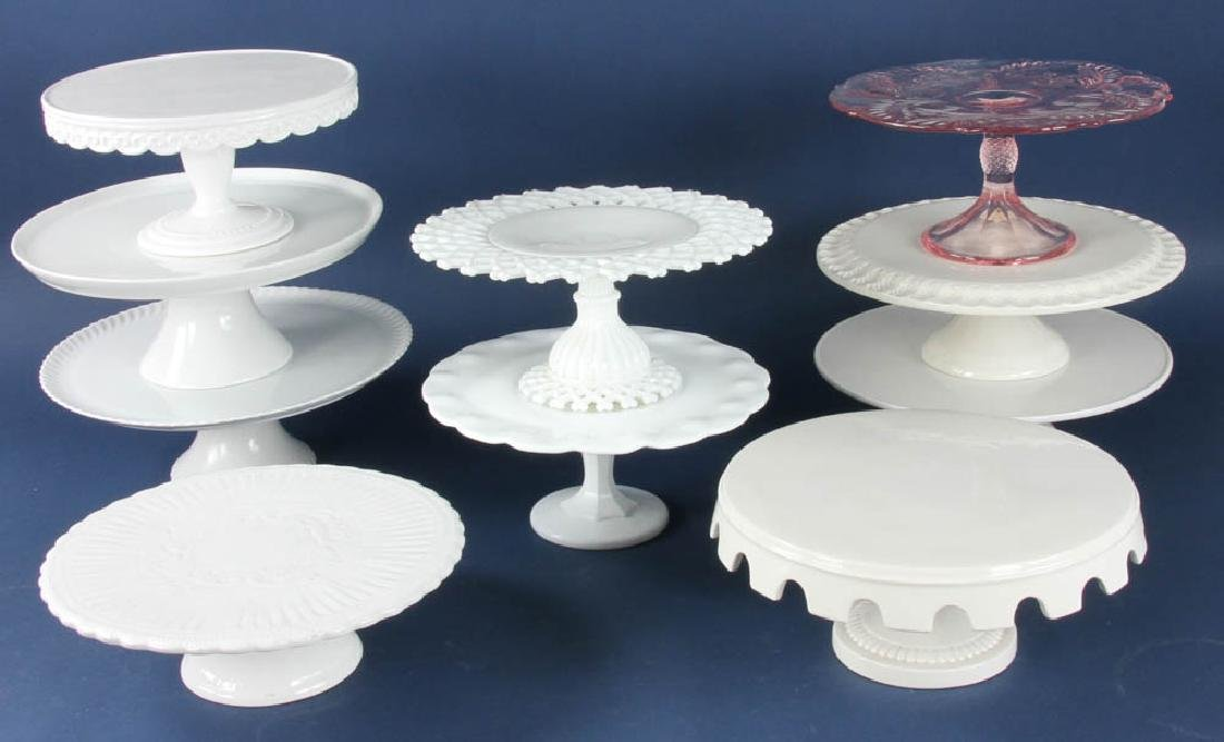 Group of Ten Cake Stands