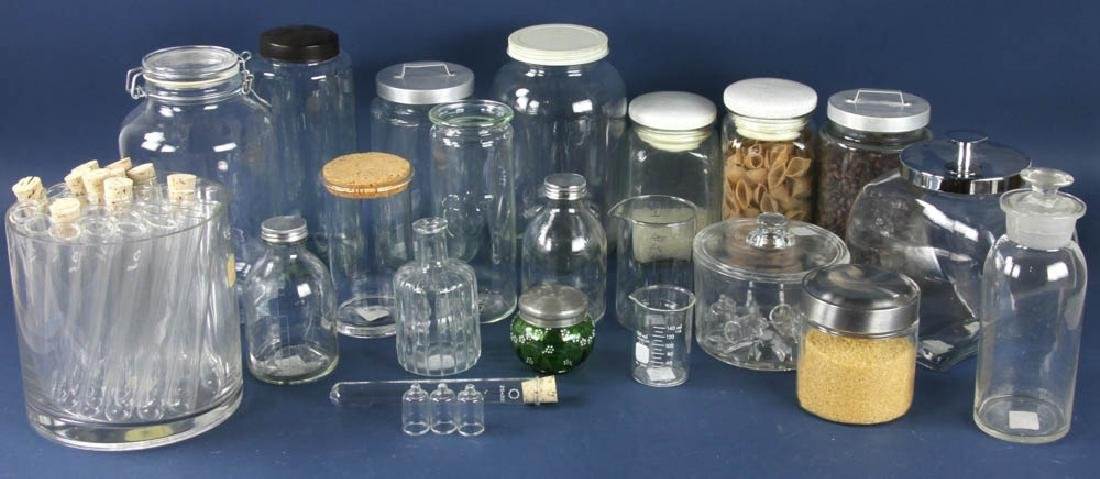 Assorted Apothecary Jars, Measures