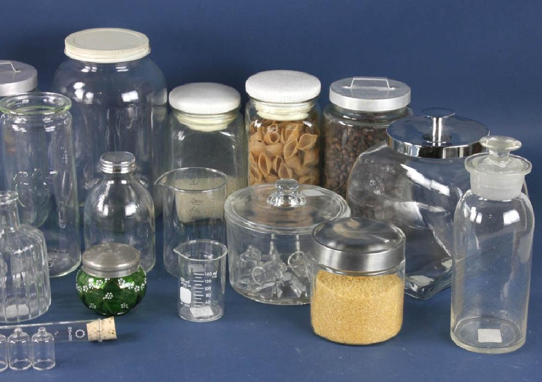 Assorted Apothecary Jars, Measures - 2