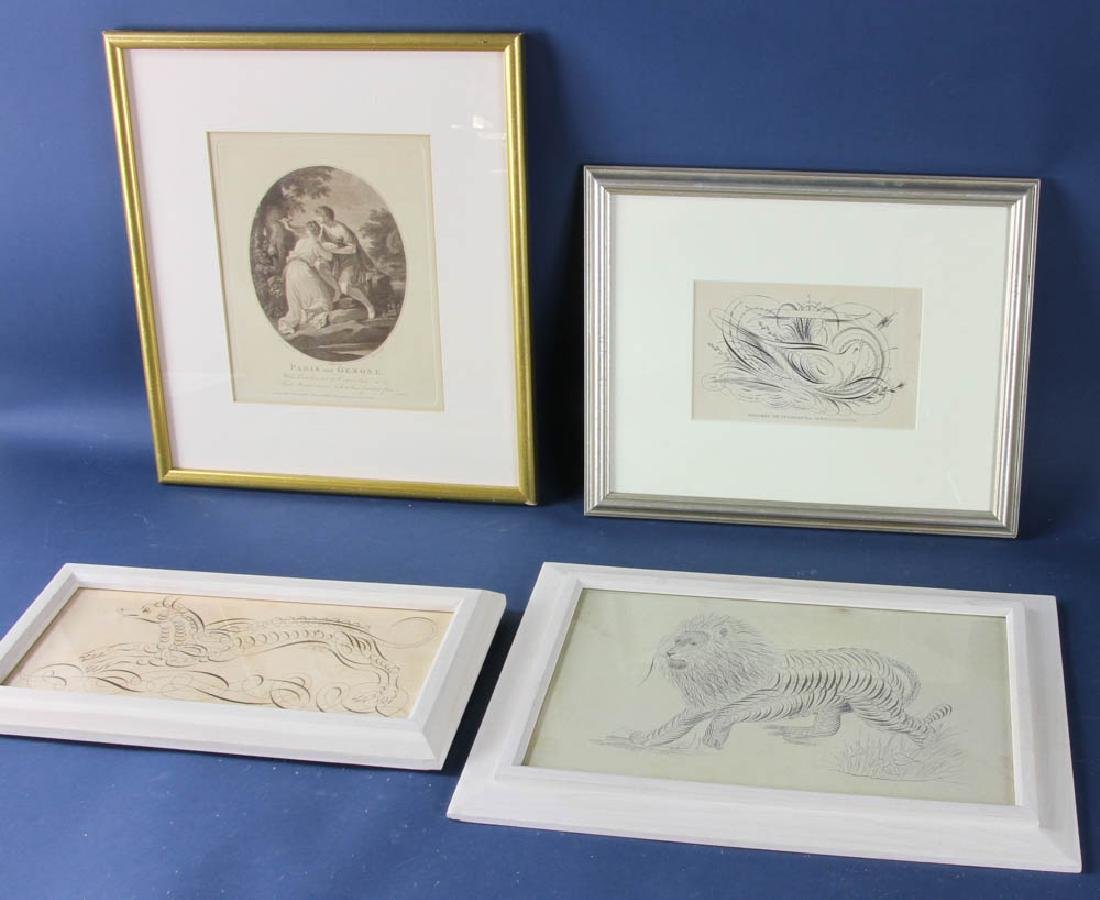 Four Miscellaneous Framed Pieces - 2