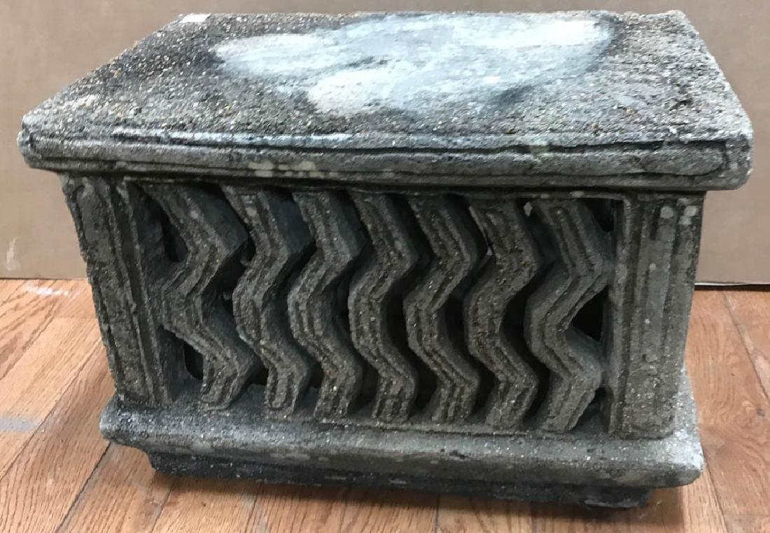 Carved Stone Pedestal
