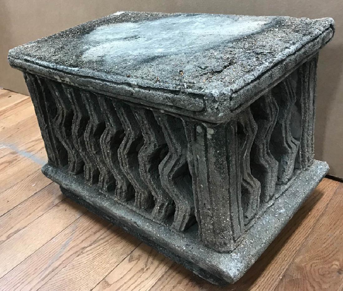 Carved Stone Pedestal - 2